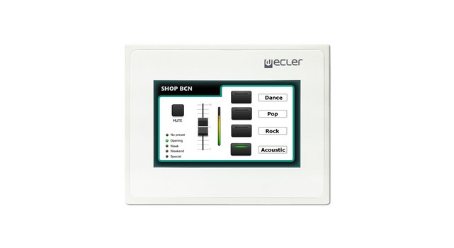 Digital Control Panel : Ecler wpmcreen eclernet touch screen wall panel