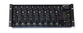 Ecler compact 8 Ecler compact 8 channels installation mixer console front