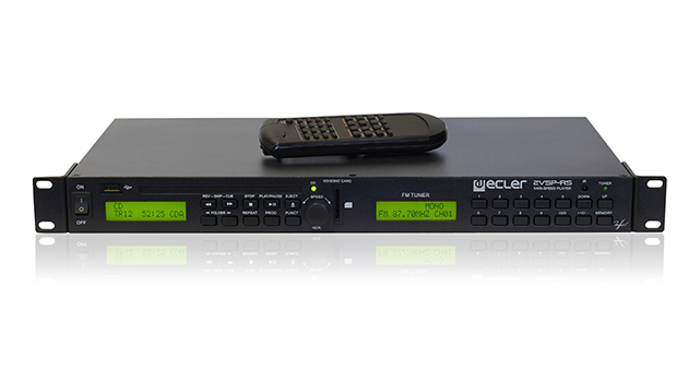Ecler 2VP-RS Dual Media Player Double sound source