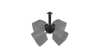 Ecler PCS124 ceiling cluster accessory with eMOTUS5ODBK lr