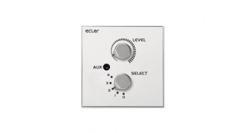 Ecler WPaVOL-SR-J Remote Wall Panel Control Front lr