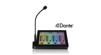 Ecler-PAGENETDN-Dante-paging-station-front-lr4