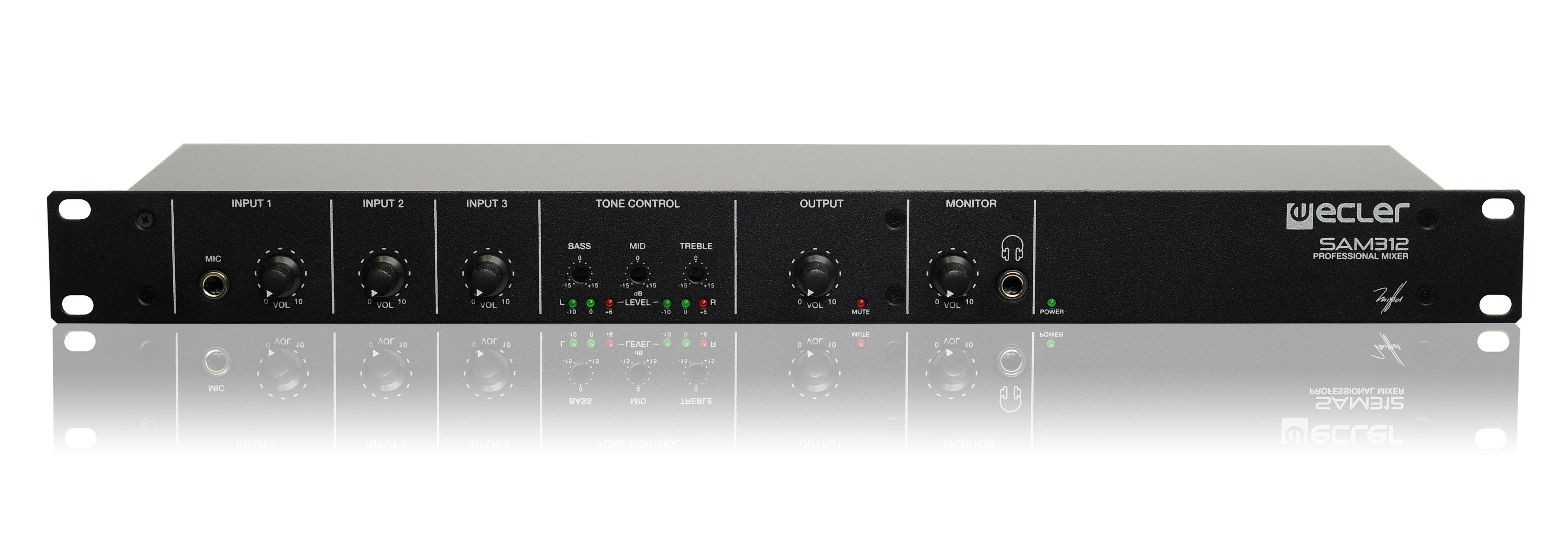 Ecler Sam312 Mezclador De Audio Anal U00f3gico Para Insatalaci U00f3n