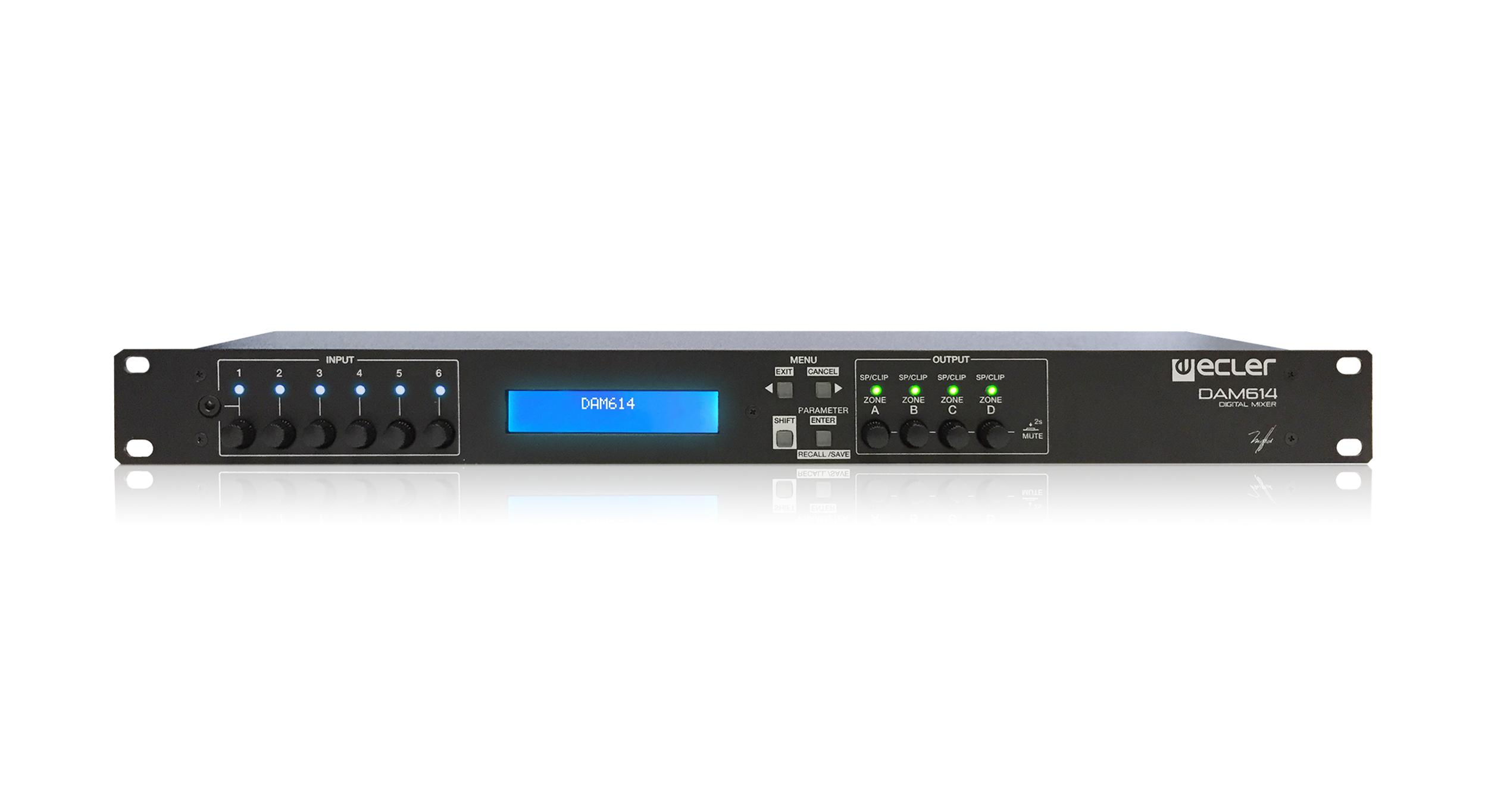 Ecler DAM 614 Installation Digital Mixer