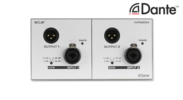 Ecler WP22DN Dante wall panel interface LR